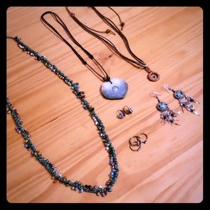 Boho Jewelry Pack~ necklaces, earrings, rings